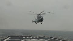 【直击演训场】黄海海域 海军信阳舰舰机协同反潜训练