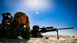 狙击手400米射击考核。