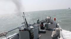 東部戰區海軍掃雷艦編隊組織反水雷綜合訓練