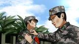 最后一次戴上军衔。将肩上的军衔洗了一遍又一遍,小小的军衔见证了他们的成长,见证了他们从青涩懵懂到成长为一名合格军人的转变历程。