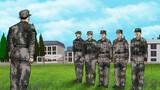 """最后一次点名。响彻云霄,从此军营再也听不到他们的答到声。那一声""""到""""喊得刚劲有力,比以往任何时候都要坚定洪亮。"""