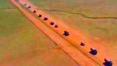 直击演训场 走进野外驻训场:大漠戈壁 炮兵分队实弹射击考核