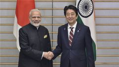 """安倍莫迪亲密互动 日本印度却""""同床异梦"""""""
