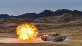 坦克分隊打擊摧毀地面目標