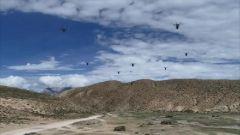 【直击演训场】海拔4500米 无人机蜂群空中速递热食