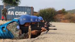 中国第19批赴黎维和工兵分队组织首次实弹射击训练