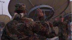 """美国首支""""太空部队""""登陆卡塔尔"""