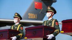 中韓雙方交接第七批117位在韓中國人民志愿軍烈士遺骸