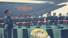 【直擊現場】第七批在韓中國人民志愿軍烈士遺骸回國