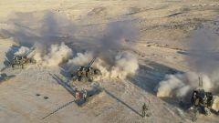 新疆军区某火力团开展实战演练