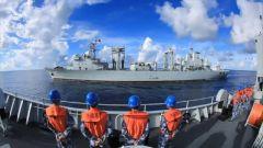 【祖國 我在戰位守護您】南海海域 艦艇編隊海上綜合補給