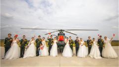 """""""双节""""期间陆军部队举行多场浪漫军营集体婚礼"""