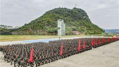 武警广西总队:号角催征 两千余名新兵正式开训