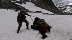 雪山巡逻步步维艰 五六百斤重的军马压住了腿 来看老兵如何化险为夷