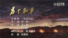 即將播出!大型電視紀錄片《為了和平》主題曲MV——《永志不忘》官方發布