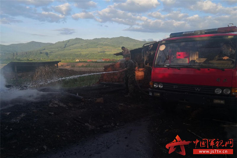 官兵參與支援地方消防滅火