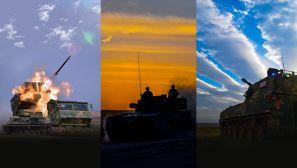 【军视界】大漠戈壁 战车一字排开展开实弹射击