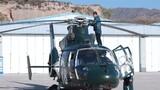 直升机起飞前检查。