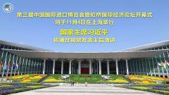 國家主席習近平將在第三屆中國國際進口博覽會開幕式上通過視頻發表主旨演講