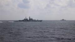 東海某海域 多艘艦艇展開實彈演練