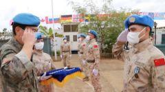 """中國第六批赴南蘇丹(朱巴)維和步兵營全體官兵榮獲聯合國""""和平榮譽勛章"""""""