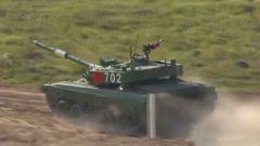 熱血澎湃!中國代表隊96B型主戰坦克威武亮相國際賽場