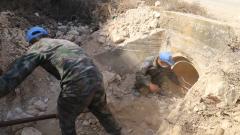"""中国第19批赴黎维和建筑工兵分队高标准完成 """"蓝线""""巡逻路修缮任务"""