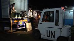 中国赴刚果(金)维和医疗分队接收首批海运物资