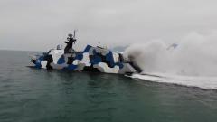 【直击演训场】南海海域 海军某导弹快艇大队实战攻防训练