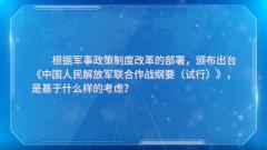 《中國人民解放軍聯合作戰綱要(試行)》推動解放和發展我軍聯合作戰能力