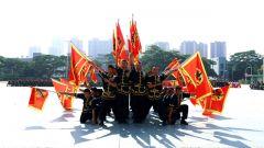 武警第二機動總隊某支隊組織特色文化隊伍大會操