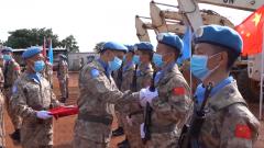 中國赴南蘇丹(瓦烏)維和部隊完成第10次輪換交接