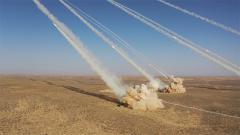 大漠戈壁發射現場 感受一波炮火齊鳴的震撼!