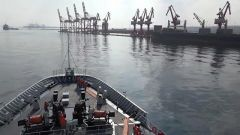 海軍第36批護航編隊完成首次國內物資補給