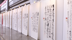"""國防科技大學舉辦""""礪劍鑄魂""""書法展"""