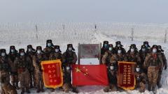 新疆軍區兩邊防團組織會哨活動 確保邊防安全穩定