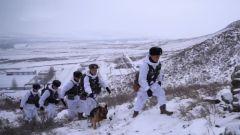 【新聞特寫】邊防官兵的風雪巡邏路