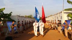 中國第六批赴南蘇丹(朱巴)維和步兵營回國歸建