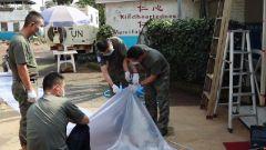 剛果(金):中國維和醫療分隊改造接診區 提供貼心服務