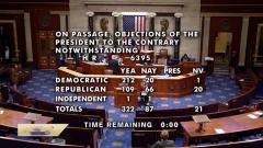 美众议院推翻特朗普对2021财年国防授权法案的否决