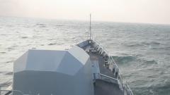海军某训练舰支队组织舰艇搜潜攻潜训练