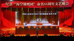 """东部战区海军航空兵某旅举办纪念""""海空雄鹰团"""" 命名55周年文艺晚会"""