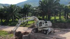 刚果(金):中国维和工兵分队成功修复受损道路