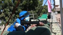 中国第16批赴苏丹维和工兵分队组织营区应急防卫演练