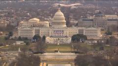 美国总统就职典礼在即 警戒升级如临大敌 美国国会大厦因附近火灾被临时封锁