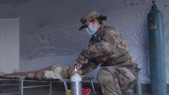 第984医院与保障对象联合开展护理备战练兵