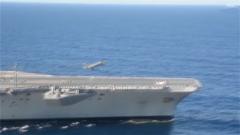 美军三艘航母同时现身亚太地区 专家:是大规模海战的基本符号