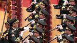 3月5日,第十三届全国人民代表大会第四次会议在北京人民大会堂开幕。这是军乐团在演奏。新华社记者 金良快 摄