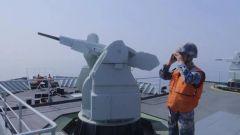 【直击演训场】南海海域 青海湖舰展开海上作战支援训练