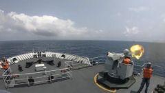 海军舰艇编队长航时多课目训练